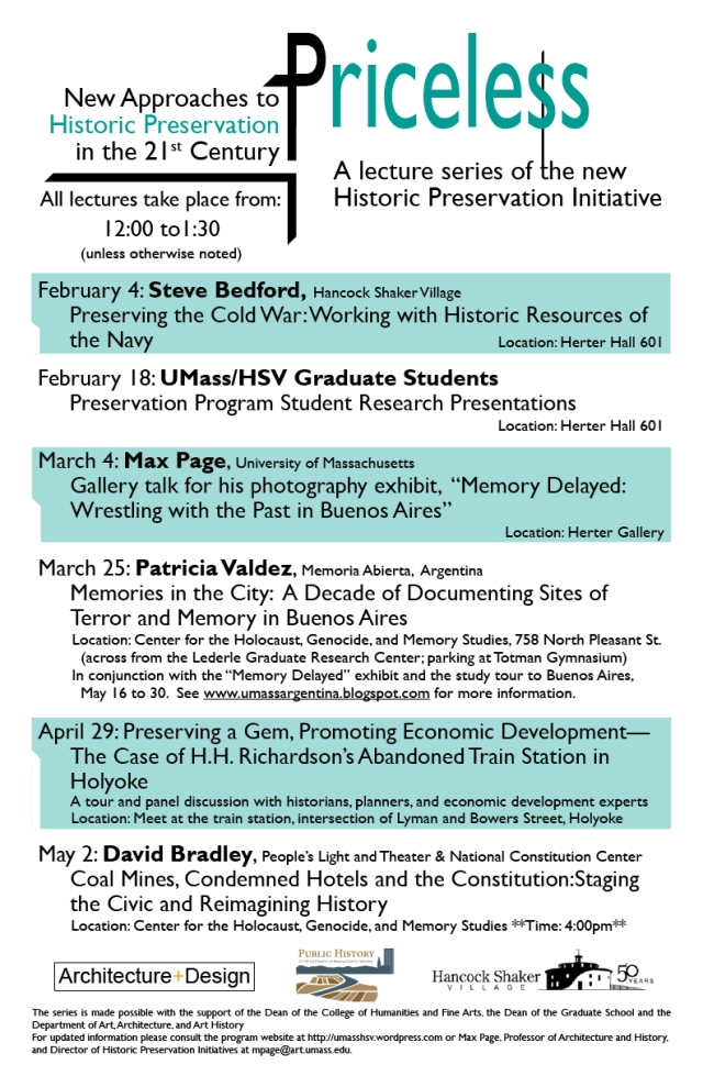 Lecture Series Poster Spring 2011